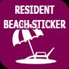 Resident Beach Sticker